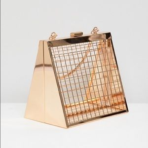 ASOS DESIGN Triangle Cage Clutch Bag